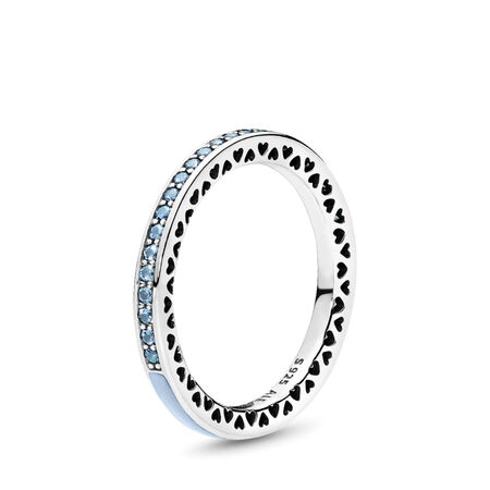 Radiant Hearts of PANDORA, Air Blue Enamel & Sky Blue Synthetic Spinel