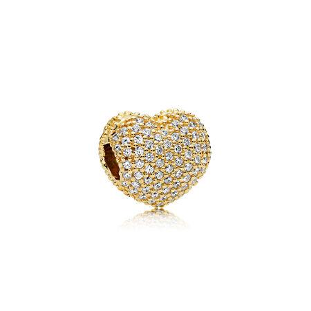 Pave Open My Heart Clip, PANDORA Shine™ & Clear CZ
