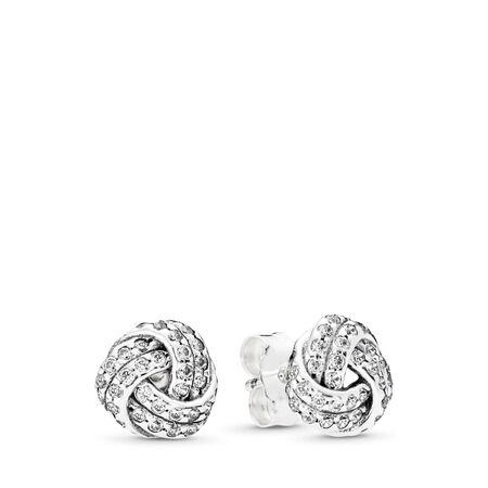 Sparkling Love Knot, Clear CZ