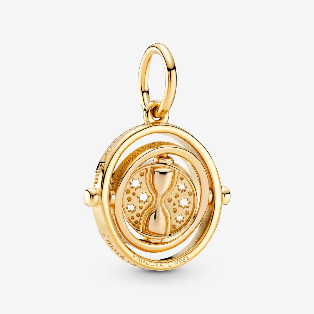 Harry Potter, Spinning Time Turner Pendant | Gold plated | Pandora ...