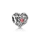 January Signature Heart, Garnet
