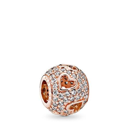Cœurs légers,Rose, cz incolore, PANDORA ROSE, Aucun autre matériel, Aucune couleur, Zircon cubique - PANDORA - #781426CZ