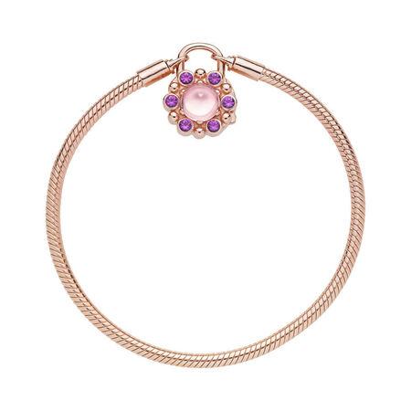 Bracelet Cadenas Radiance héraldique, PANDORA Rose et cristaux roses et mauves