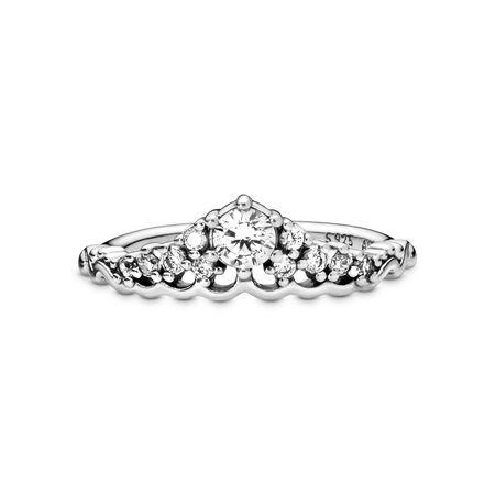 Fairytale Tiara Ring, Clear CZ