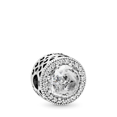 Radiant Hearts, Clear CZ, Sterling silver, Cubic Zirconia - PANDORA - #796239CZ