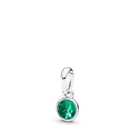 May Droplet, Royal-Green Crystal, Sterling silver, Green, Crystal - PANDORA - #390396NRG