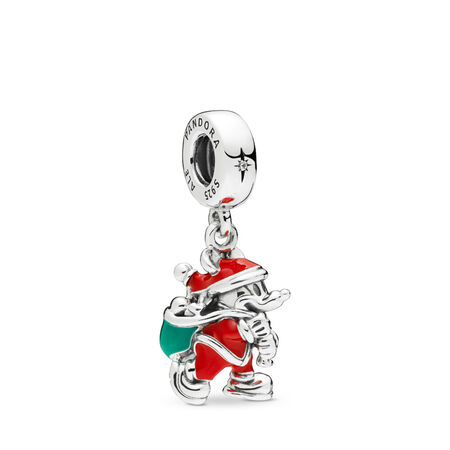 Disney, Santa Mickey & Gift Bag Dangle Charm
