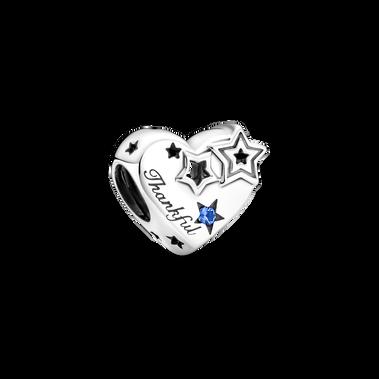 Charm Cœur reconnaissant et étoiles