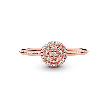 Radiant Elegance, PANDORA Rose™ & Clear CZ, PANDORA Rose, Cubic Zirconia - PANDORA - #180986CZ