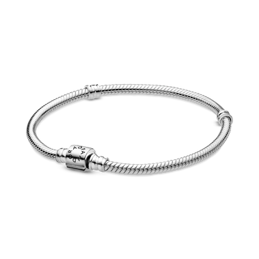 Bracelet à fermoir à barillet et à chaîne serpentine PandoraMoments