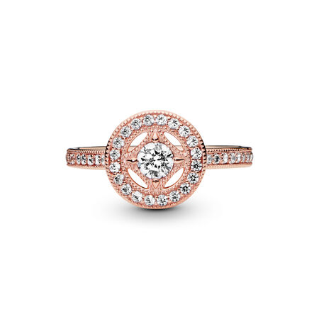 Vintage Allure Ring, PANDORA Rose™ & Clear CZ