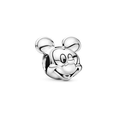 Disney, Portrait de Mickey, Argent sterling, Aucun autre matériel, Aucune couleur, Aucune pierre - PANDORA - #791586