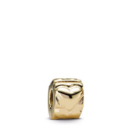 Heart Clip, 14K Gold, Yellow Gold 14 k - PANDORA - #750243