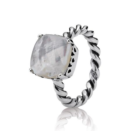 Silver ring, mother of pearl