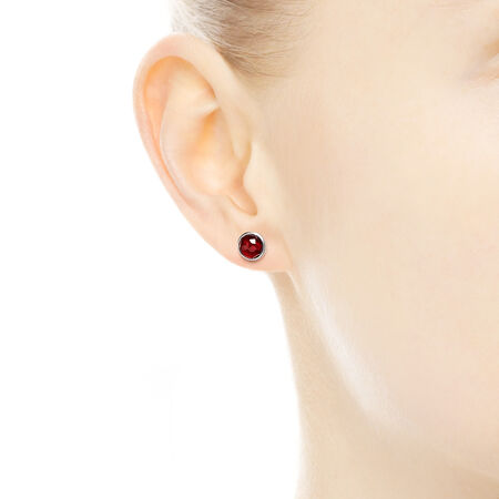 July Droplets, Synthetic Ruby, Sterling silver, Red, Synthetic Ruby - PANDORA - #290738SRU