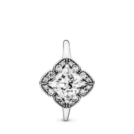 Crystalized Floral Fancy, Clear CZ, Sterling silver, Cubic Zirconia - PANDORA - #190966CZ