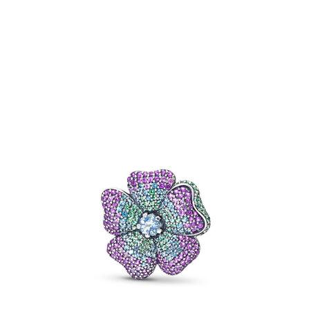 Pendentif Fleur glorieuse, cz multicolore