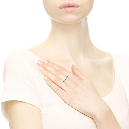 Cœurs radieux de PANDORA, émail menthe vive et cristaux vert royal
