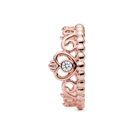 Princess Tiara Crown Ring, PANDORA Rose, Cubic Zirconia - PANDORA - #180880CZ-56
