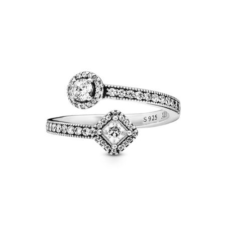 Abstract Elegance, Clear CZ, Sterling silver, Cubic Zirconia - PANDORA - #191031CZ