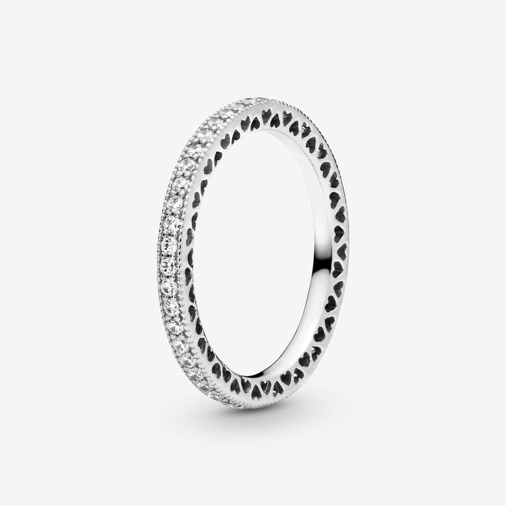 Hearts of Pandora Ring with Cubic Zirconia   Argent sterling ...