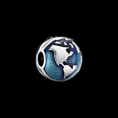Blue Globe Clip Charm