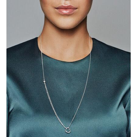 Open Heart Necklace, Sterling silver - PANDORA - #397204