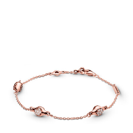 Modern LovePods™ PANDORA Rose™ Bracelet, Clear CZ, PANDORA Rose, Cubic Zirconia - PANDORA - #587354CZ
