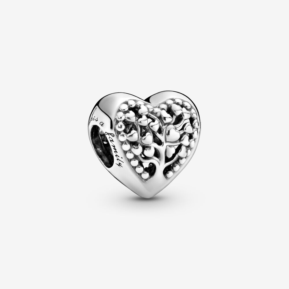 Family Tree Heart Charm | Sterling silver | Pandora Canada