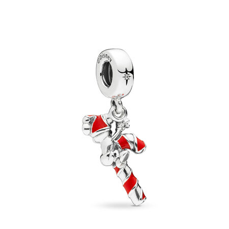 Disney, Santa Mickey's Candy Cane Dangle Charm