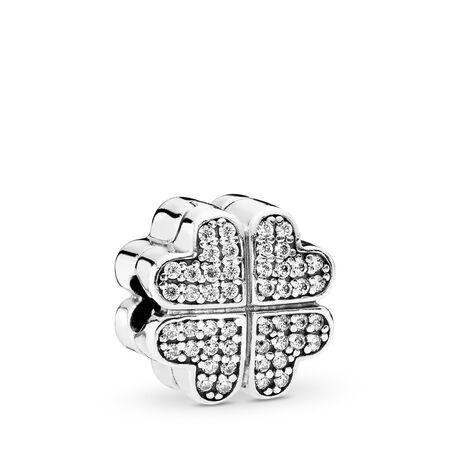 Petals of Love, Clear CZ, Sterling silver, Cubic Zirconia - PANDORA - #791805CZ