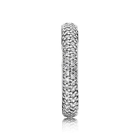 Inspiration Within Stackable Ring, Clear CZ, Sterling silver, Cubic Zirconia - PANDORA - #190909CZ