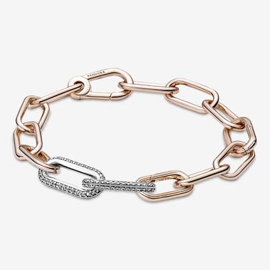 Ensemble de bracelet Maillon double en pavé Pandora ME