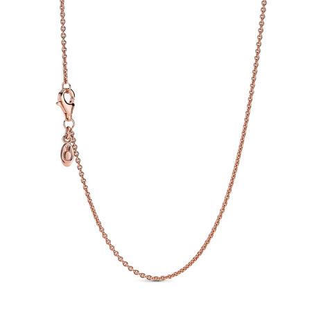 Classic Cable Chain Necklace, PANDORA Rose - PANDORA - #580413