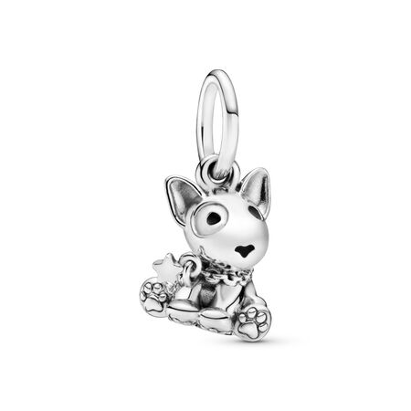 Bull Terrier Puppy Dangle Charm