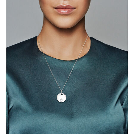 Tribute Pendant Necklace, Sterling silver - PANDORA - #397122