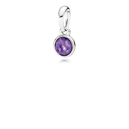 February Droplet, Synthetic Amethyst