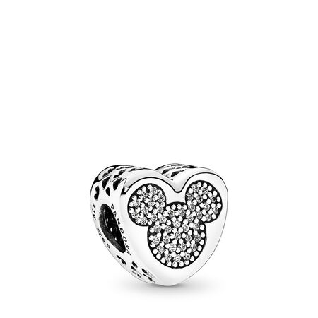 Disney, Mickey & Minnie True Love, Sterling silver, Cubic Zirconia - PANDORA - #792050CZ