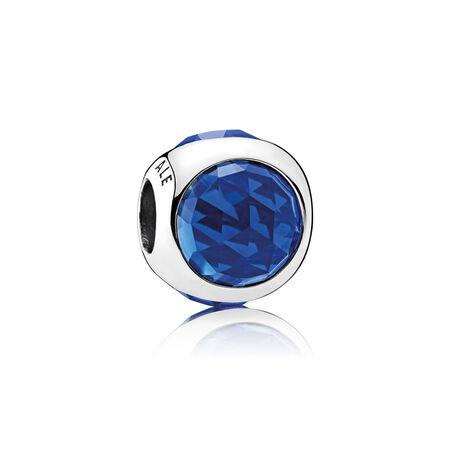Gouttelette radieuse, cristaux bleu royal