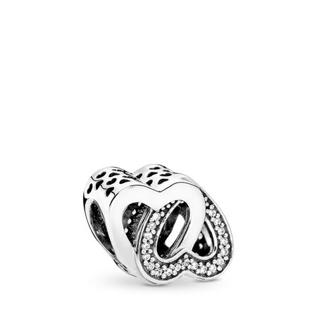 Entwined Love, Clear CZ, Sterling silver, Cubic Zirconia - PANDORA - #791880CZ