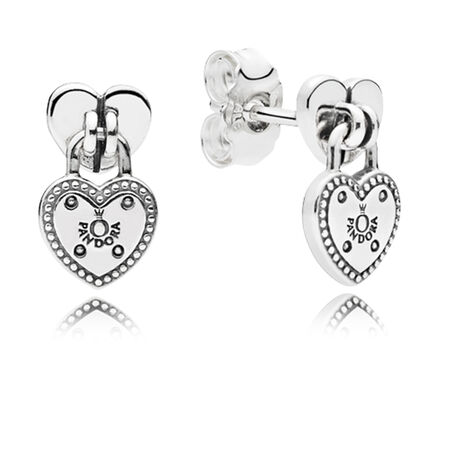 Love Locks Dangle Earrings