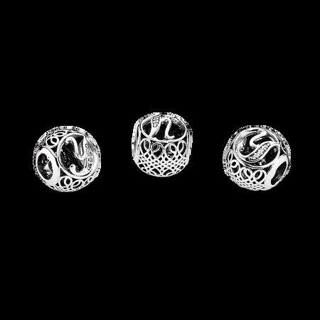 Vintage Y, Clear CZ, Sterling silver, Cubic Zirconia - PANDORA - #791869CZ