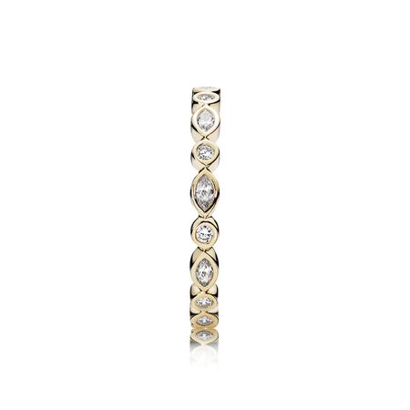 Alluring Brilliant Marquise, Clear CZ & 14K Gold