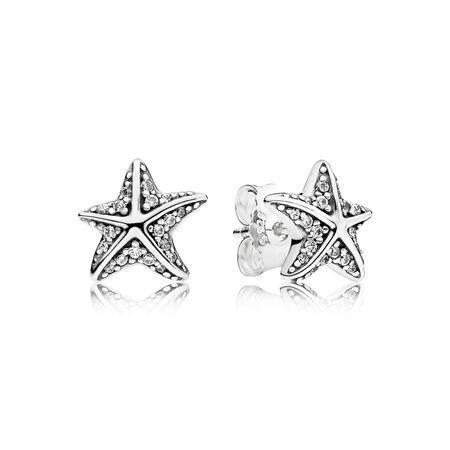 Tropical Starfish, Clear CZ