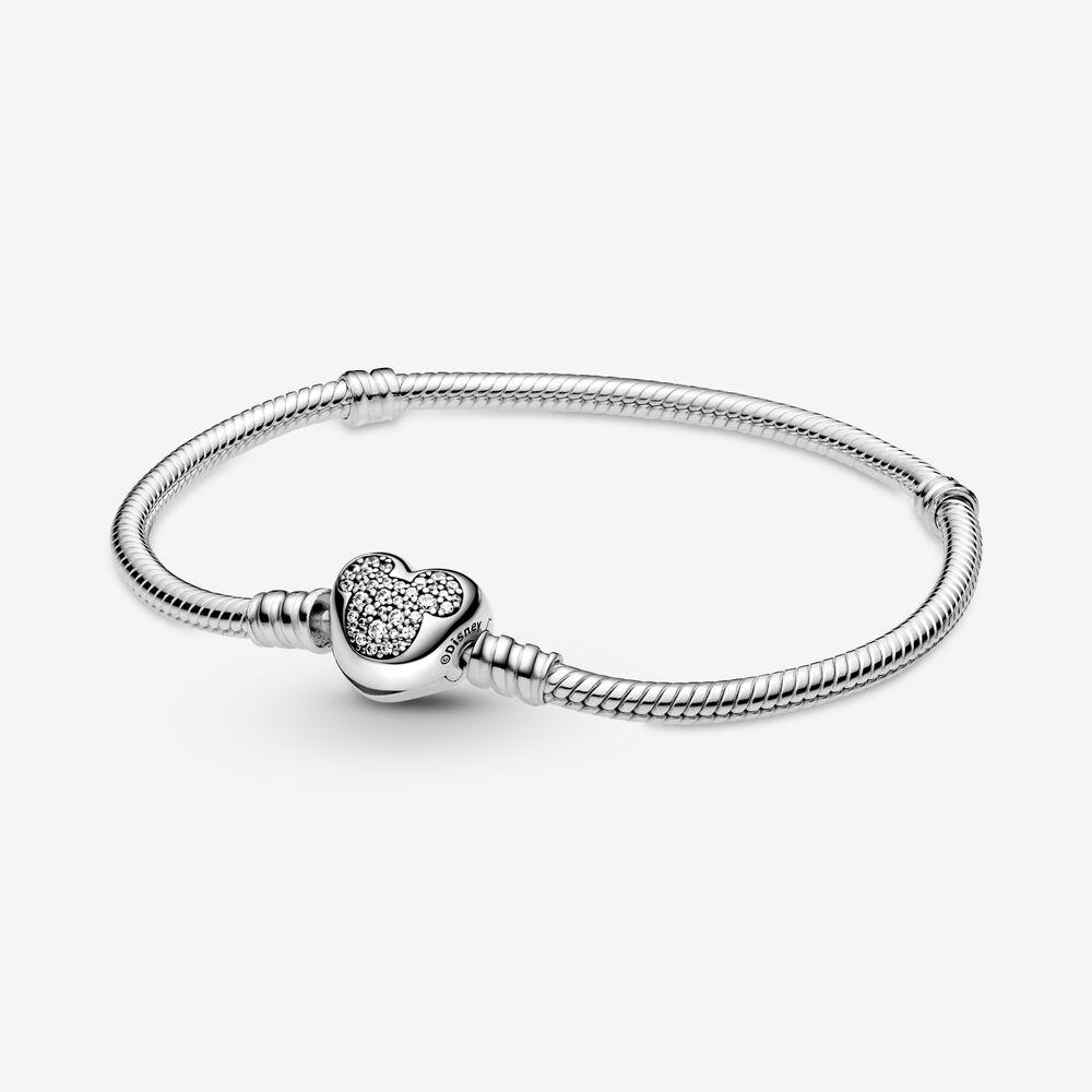 Disney Pandora Moments Mickey Mouse Heart Clasp Snake Chain Bracelet Sterling Silver Pandora Canada