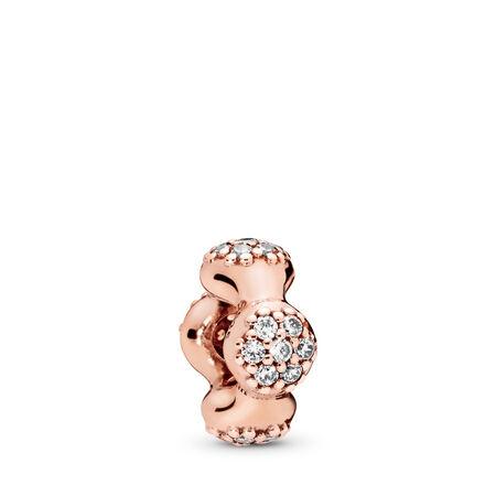 Modern LovePods™ PANDORA Rose™ Spacer, Clear CZ, PANDORA Rose, Cubic Zirconia - PANDORA - #787292CZ