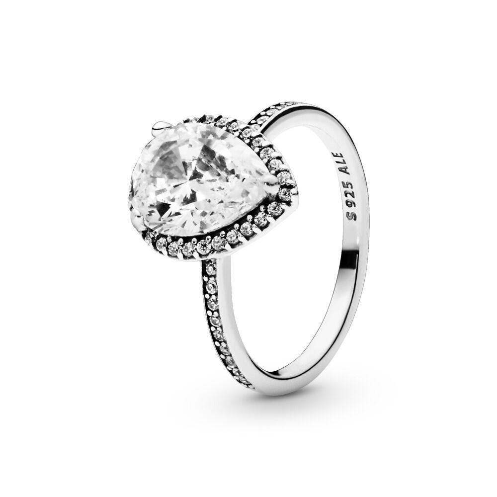 8df4a1e6b Sparkling Teardrop Ring, Sterling silver, Cubic Zirconia - PANDORA -  #196251CZ