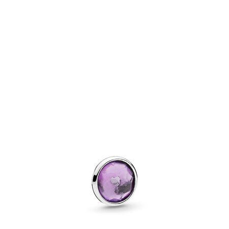 Mini gouttelette de février, améthyste synthétique, Argent sterling, Aucun autre matériel, Aucune couleur, Améthyste synthétique - PANDORA - #792175SAM