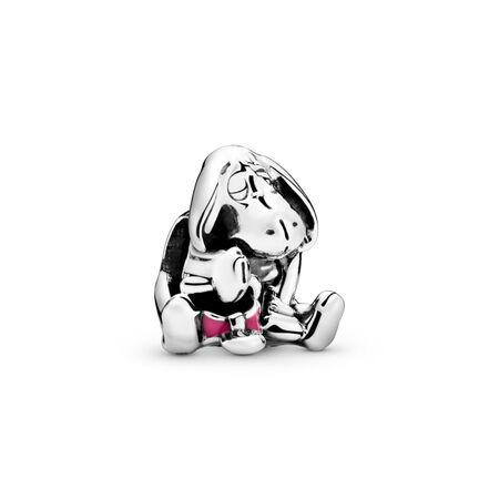 Disney, Eeyore, Sterling silver, Enamel, Pink - PANDORA - #791567EN80