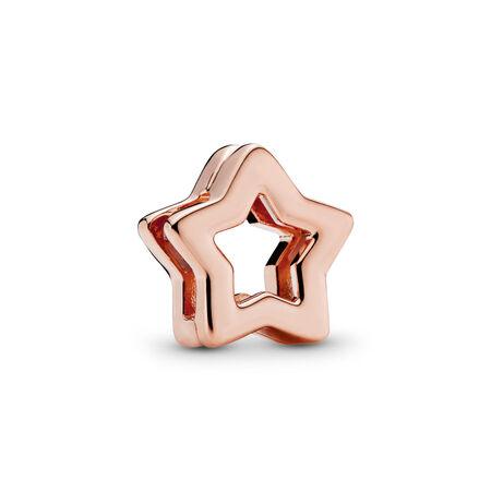 PANDORA Reflexions™ Sleek Star Charm, PANDORA Rose™